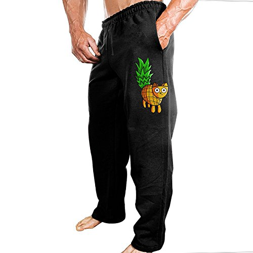 Price comparison product image Yuqickng Pineapple Cat Men's Active Pants XXL Black