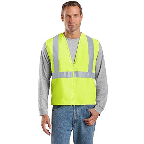 Lucas Jackson CSV400 Mens ANSI 107 Class 2 Safety Vest, Safety Yellow & Reflective - 2 by 3X from Lucas Jackson