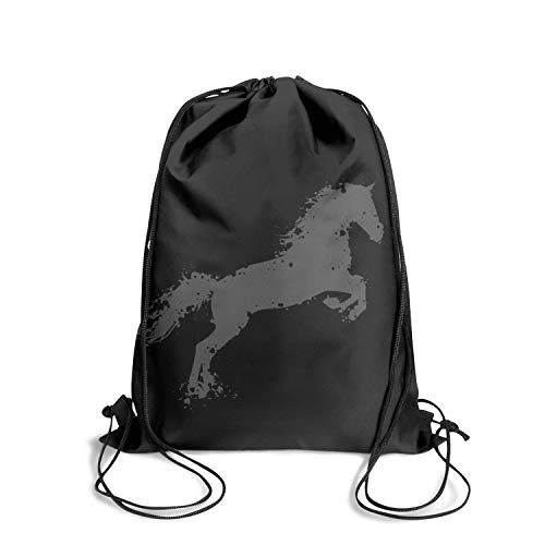 Drawstring Backpacks Tennessee Walking Horse Storage Sports Carry-On Bags Polyester Sackpack