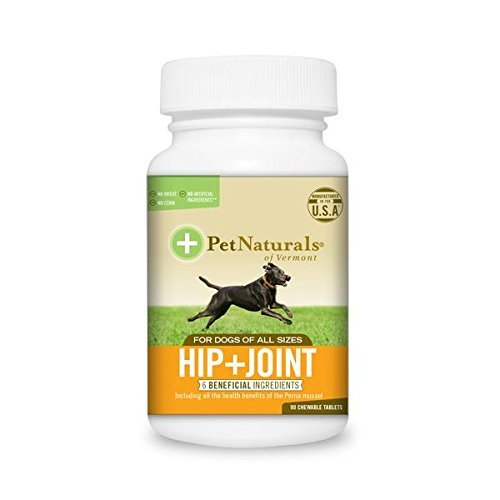Pet Naturals of Vermont - Hip + Joint for Dogs, Daily Joint Support Supplement, 90 Chewable Tablet (2 Packs)