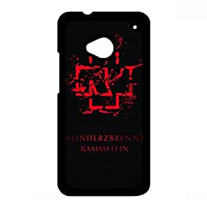 Custom Rammstein Band Phone Case For Htc One M7 Case,Rammstein Band Logo Htc One M7 Black Hard Plastis Case Cover