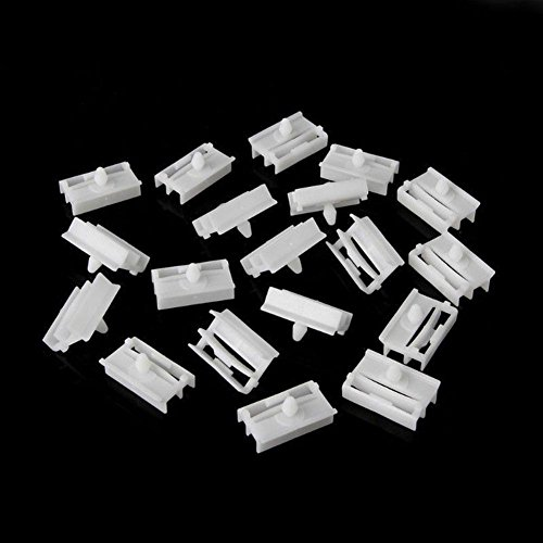 Bmw E46 Side Skirts - ZHUOTOP White 20 Pieces Molding Exterior Side Sill Skirt Trim Clip Fasteners For BMW E36 E46