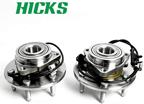HICKS 515096X2 Front Wheel Bearing and Hub Assembly for Cadillac Escalade ESV EXT 6 Lugs W//ABS Chevy Avalanche Silverado Suburban Tahoe Set of 2 GMC Sierra Yukon XL 1500
