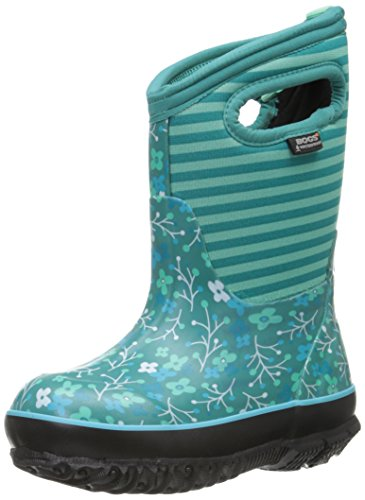 Bogs Classic Flower Stripe Waterproof Insulated Rain Boot ,