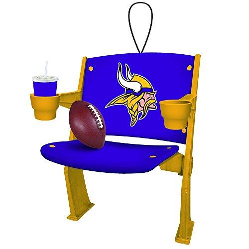 Team Sports America NFL Minnesota Vikings Football Stadium Chair Christmas Ornament, Small, Multicolored