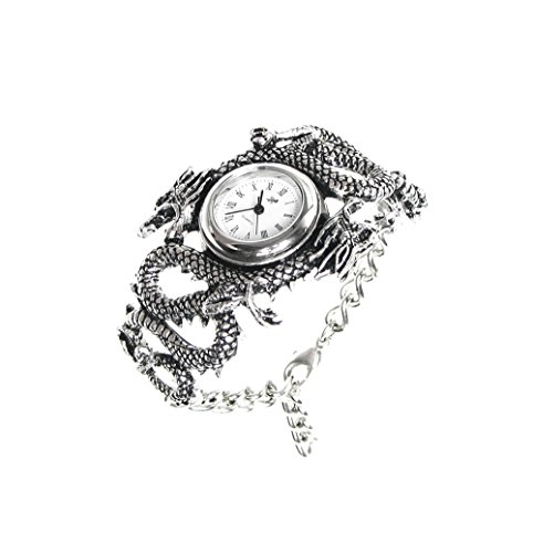 Alchemy Gothic Men Casual Watches Alchemy Gothic Imperial Dragon Watch 2.76 X 1.77 X 1.38 Inches Silver Model # AW16