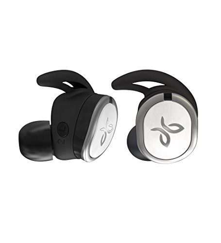 Jaybird Run True Wireless Headphones Running, 4+ Hours Play, Omni-Directional Mic, Sweat-Resistant, Comfort-Fitted Earpieces, Skip-Free Music (Jet)
