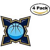 Basketball Estudiantes De Bah?Blanca Logo 4 Stickers 4X4 Inches Car Bumper Window Sticker Decal