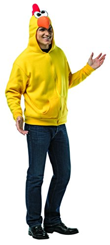 Rasta Imposta Chicken Hoodie, Yellow/Multi, Large/X-Large (Chicken Costumes For Adults)