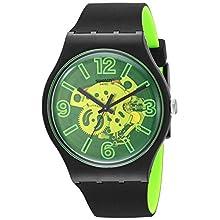 Swatch Reloj Analógico para Hombre de Cuarzo con Correa en Silicona SUOB166