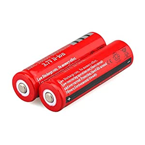 WishDeal 18650 Battery, 10 PCS Rechargeable Battery 4000 mAh 3.7 V Battery For LED Flashlight Torch