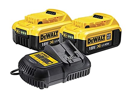 Cargador de baterías de litio ion Dewalt DCB182, batería 2 x ...