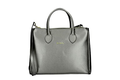 Pam Shop Bag Donna Con Tracolla Pierre Cardin In Pelle Grigia Made In Italy Vn244