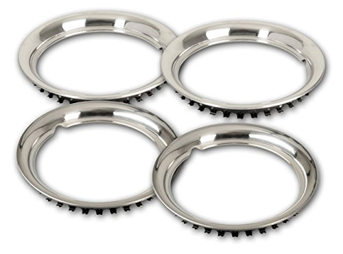 / Set of 4/ rings made of stainless steel Stainless Steel Rings For 16/ Inch Rims Wheel Trims/