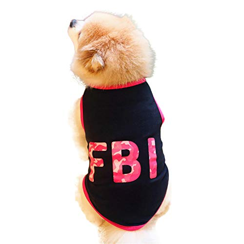 Pet Dog Clothing Laimeng_World FBI Pet Dog Clothes