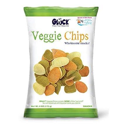 Gluck Veggie – Chips de familia de 6oz Pack (Caso con 6 ...