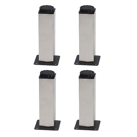 SUCL- Pies de los Muebles Acero Inoxidable Cuadrado 0-15 mm ...