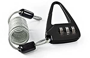 Equipaje Candado–Cable Candado–10Unidades–Color negro–en forma angular–de metal–Número Código 3dígitos–Forma moderna