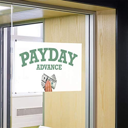Set of 2 52inx34in Decal Sticker Multiple Sizes Payday Advance #1 Style E Business Allowance Outdoor Store Sign White