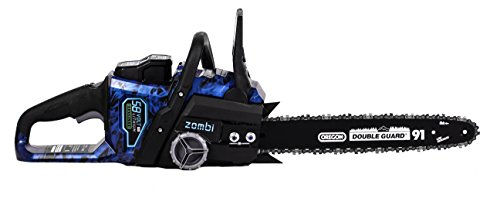 Zombi ZCS5817 16-Inch 58-Volt 4Ah Lithium Cordless Electric Chainsaw with Oregon Bar & Chain, Battery & Charger Included by Zombi Power Tools