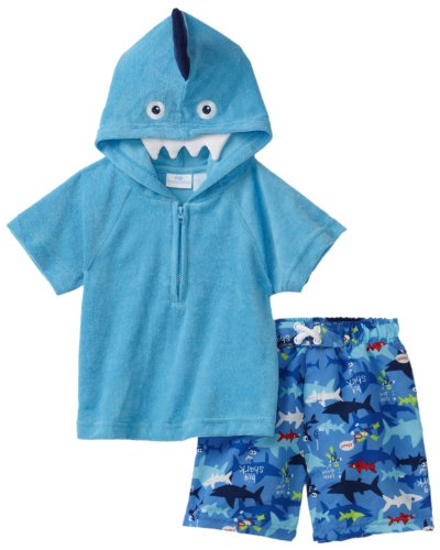 Kids Headquarters Baby Boys' Swim Short and Top with Hood