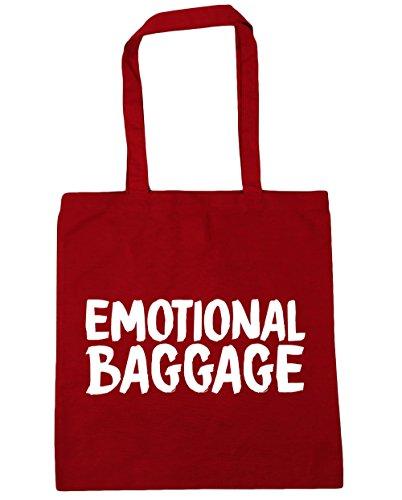 HippoWarehouse Emotional Gepäck Einkaufstasche Fitnessstudio Strandtasche 42cm x38cm, 10 liter - Klassisch Rot, One size