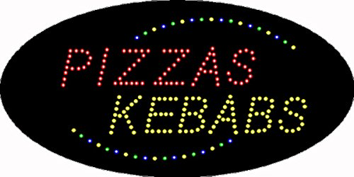 HIDLY LED Pizza Open Light Sign Super Bright Electric Advertising Display Board for Business Shop Store Window Bedroom 19 x 10 inches by HIDLY