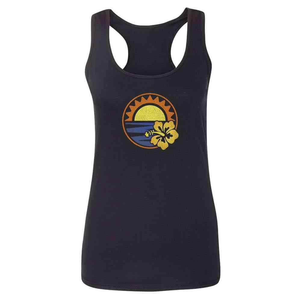 Hibiscus Sunset Tank Top 1876 Shirts