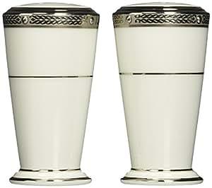 Noritake Chatelaine Platinum Salt & Pepper Shakers