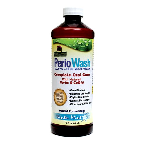 (Nature's Answer Periowash Alcohol-free Mouthwash, Wintermint, 16 Ounce (Pack of 12))