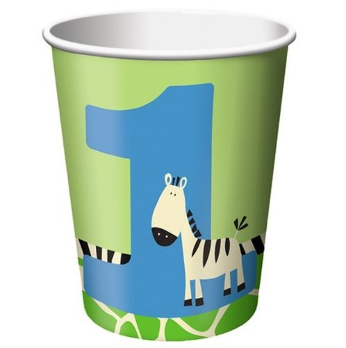 8-Count 9-Ounce Hot/Cold Beverage Cups, Wild at One Zebra