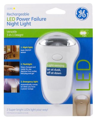 Ge Rechargeable Power Failure Led Night Light - 6