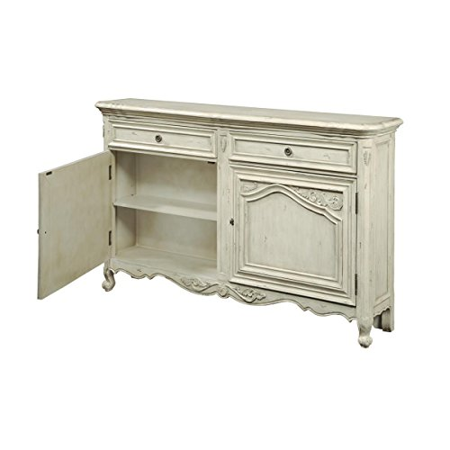 Pulaski Nathaniel Console, 60 by 12 by 36-Inch, White For Sale