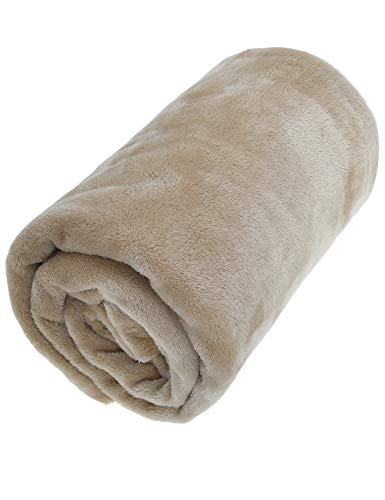 SENDI Flannel Fleece Blanket Soft Throw Lightweight Blankets Provide Enough Warmth When Reading Watching Cozy Life, 50