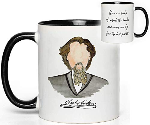 Charles Dickens Author Mug Quote Fan Gift -