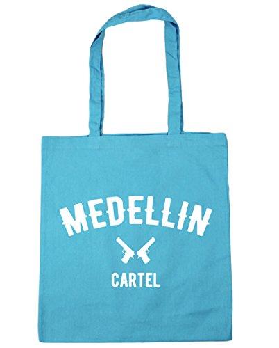 HippoWarehouse Medellin Cartel Pablo Escobar Tote Compras Bolsa de playa 42cm x38cm, 10litros azul (Surf Blue)
