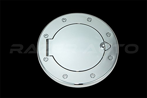 Razer Auto Triple Chrome Plated Gas Door Cover, Direct Bolt on for 07-18 Jeep JK - Locking Door Bolts