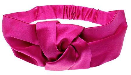 Usa Knot Turban (L. Erickson USA Knot Turban - 100% Silk Charmeuse Fuchsia)