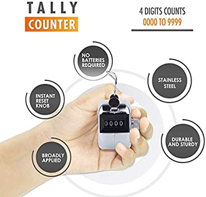 METAL Handheld People Lap Counter Cli Hand Pitch Tally Counter Clicker– 1 Pack