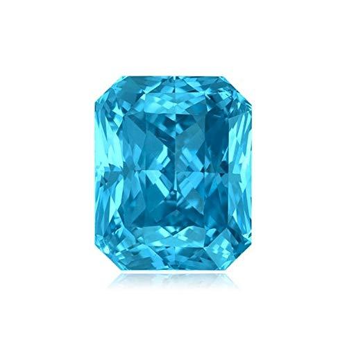 Mysticdrop 1.50-2.15 Ct 8x6 mm AAA Emerald Cut - Radiant Swiss Blue Topaz (1 pc) Loose Gemstone