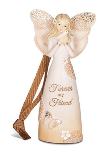 Friend Angel Ornament - Pavilion Gift Company 19080 Forever Friend Angel Figurine/Ornament, 4-1/2-Inch