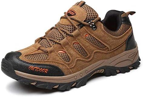 メンズトレッキング&ハイキングシューズアウトドアトラベルブーツ滑り止めの クロスカントリーランニングシューズ - ロートップウォーキングシューズ (Color : Brown, Size : 39)