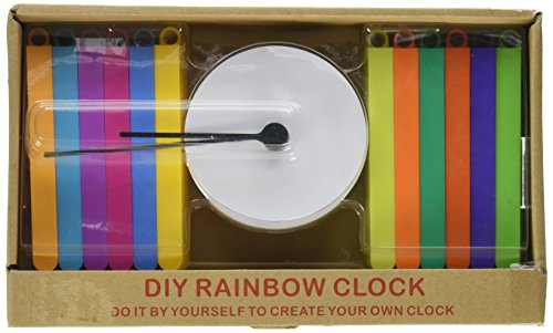 Youngerbaby Elegant Rainbow Colorful DIY Creative Whatever Sunburst Wall Clock 14 Inch