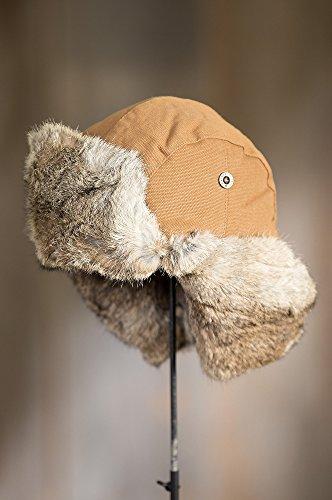 e6d7c39deb171 Jual Canvas Trapper Hat with Rabbit Fur Trim -