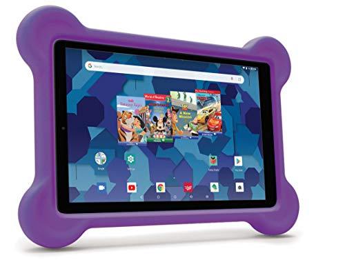 RCA Android Tablet Bundle (10″ Tablet, Audio Books, Bumper Case, Headphones) – Disney Edition (Purple)