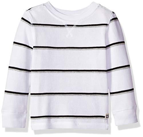 (Crazy 8 Baby Boys Long Sleeve Basic Thermal, White Stripes, 18-24 mo )