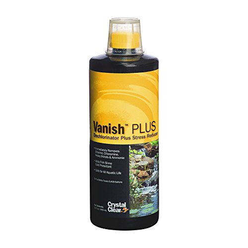 Dechlorinator Liquid - Vanish Plus, Liquid Dechlorinator Plus Stress Reducer, 32 Ounces