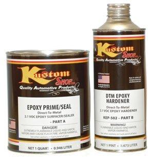 Dtm Epoxy Primer Surfacer (Custom Shop KIT-KEP505-QT Gray DTM Epoxy Prime/Sealr-Kit 2.1 VOC Makes)