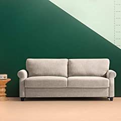 The traditional upholstered Sofa is the perfect cozy spot for movie night, game night, or curl-up-with-a-great-book night. With multiple layers of cushioning, you can relax in its soft supportive embrace. You can also relax, because the durab...