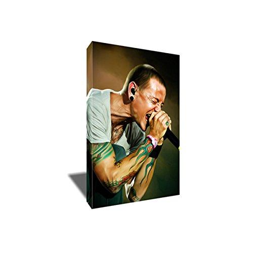 Linkin Park CHESTER BENNINGTON Canvas Painting Portrait Artwork on CANVAS ART print (16x24 inches)